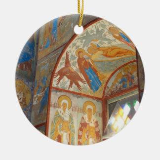 Russian frescoes christmas tree ornament