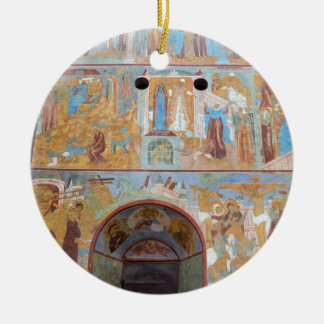 Russian frescoes christmas ornaments