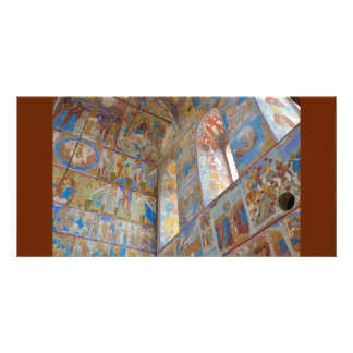 Russian frescoes photo card
