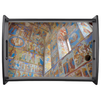 Russian frescoes serving tray