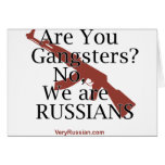 Russian Gangsters Брат 2 Greeting Card