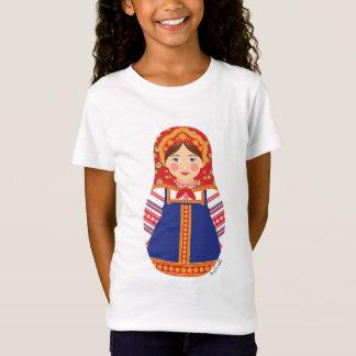Russian Girl Matryoshka Girls Baby Doll (Fitted) T-Shirt