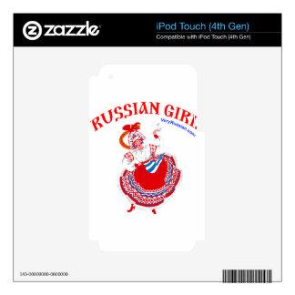 Russian Girl iPod Touch 4G Skin