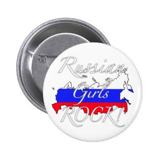 Russian Girls Rock! Pinback Button