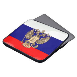 Russian glossy flag computer sleeve