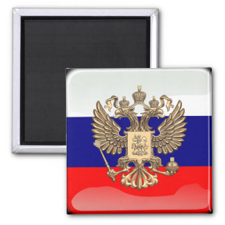 Russian glossy flag magnet