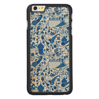 Russian Gzel Pattern Carved Maple iPhone 6 Plus Slim Case