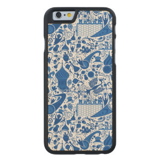 Russian Gzel Pattern Carved Maple iPhone 6 Slim Case