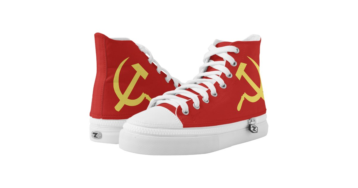Russian Hammer and Sickle High Top Shoes | Zazzle.com