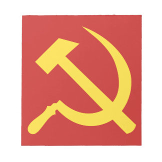 Russian Hammer and Sickle Notepad