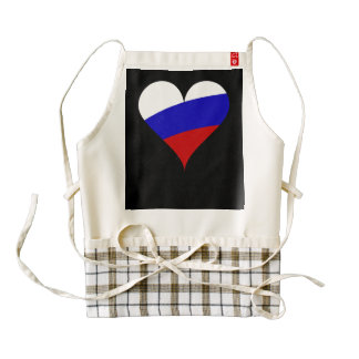 Russian heart zazzle HEART apron