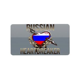 Russian Heartbreaker Custom Address Label