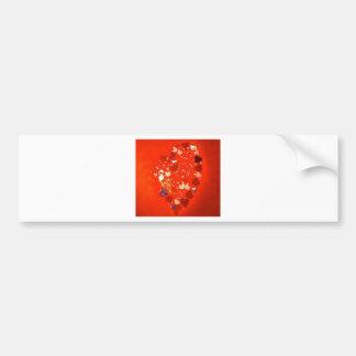 Russian Hearts Bumper Sticker