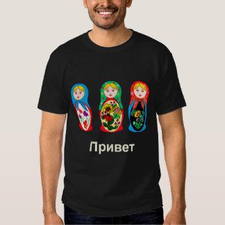 Russian Hello Goodbye T Shirts
