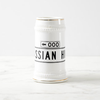 Russian Hill, San Francisco Street Sign 18 Oz Beer Stein