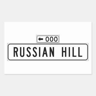 Russian Hill, San Francisco Street Sign Rectangular Sticker
