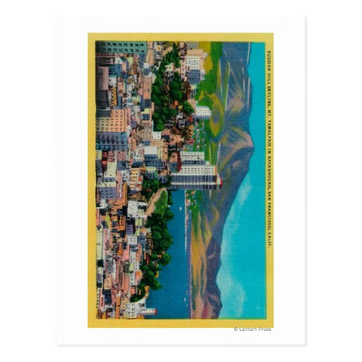 Russian Hill Skyline with Postcard