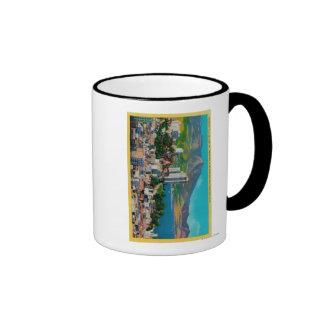 Russian Hill Skyline with Ringer Coffee Mug