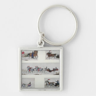 Russian Horse Drawn Sleighs Keychain