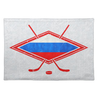 Russian Ice Hockey Place Setting Cloth Placemat