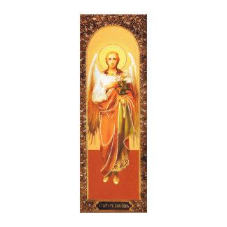 Russian Icon Archangel Gabriel Wrapped Canvas Lona Estirada Galerias