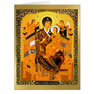 Russian Icon God Mother Holiday Christmas Card