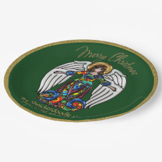 Russian Icon Guardian Angel (Personalized) Paper Plate