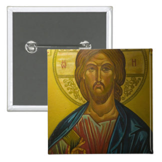 Russian Icon inside Church of St. Sophia / 2 Inch Square Button