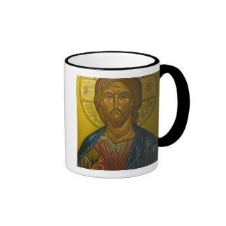 Russian Icon inside Church of St. Sophia / Ringer Coffee Mug