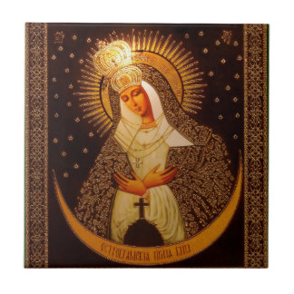 Russian icon OF the Mother OF God Tile