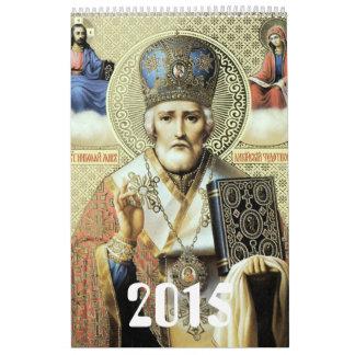 Russian icons wall calendar