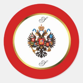 Russian Imperial Crest Monogram Stickers
