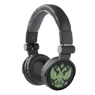 Russian Imperial Crowned Eagle Emblem Headphones