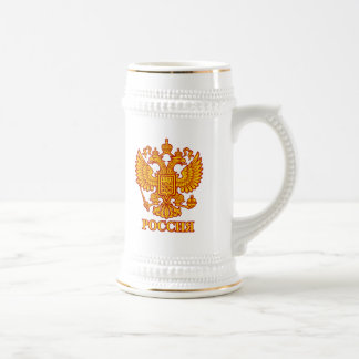 Russian Imperial Crowned Eagle Emblem Coffee Mugs