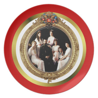 Russian Imperial Family Plate