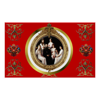 Russian Imperial Family Romanov Poster