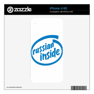 Russian Inside iPhone 4 Decal