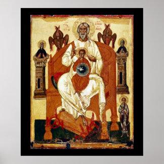 Russian Jesus Art Nouveau Still Poster