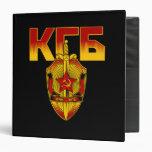 Russian KGB Badge Soviet Era Vinyl Binders