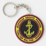 Russian Marines Basic Round Button Keychain