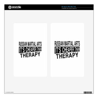 RUSSIAN MARTIAL ARTS IT IS CHEAPER THAN THERAPY KINDLE FIRE DECALS