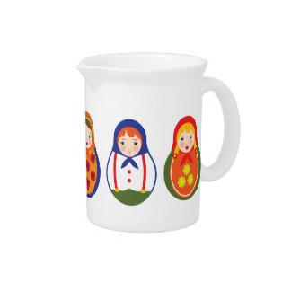 Russian Matroyshka Adoption Gift Beverage Pitchers
