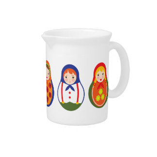Russian Matroyshka Adoption Gift Drink Pitcher