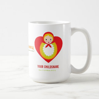 Russian Matroyshka Girl Adoption Gift Coffee Mug