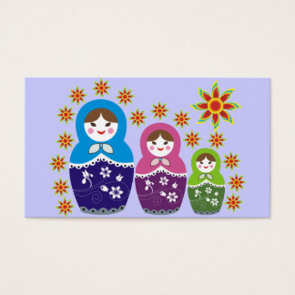 Russian Matryoshka Doll Business Cards