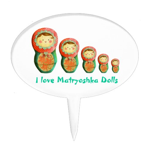 Russian Doll Wedding Cake Topper