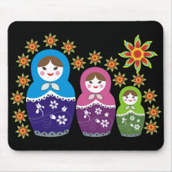 Russian Matryoshka Doll Mousepads  Mouse Pad