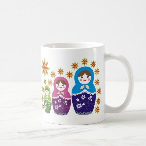 Russian Matryoshka Doll Mugs
