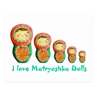 Russian Matryoshka Doll Postcard
