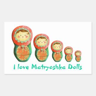 Russian Matryoshka Doll Rectangular Sticker